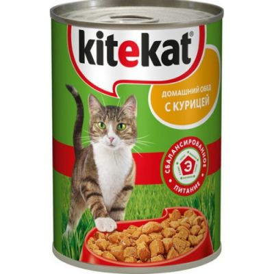 Консервы Kitekat для кошек курица 410г
