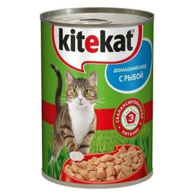Консервы Kitekat для кошек рыба 410г