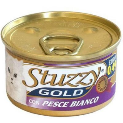 Консервы Stuzzy Gold для кошек белая рыба 85г