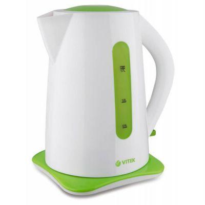 Электрический чайник Vitek VT-1176-01 белый/зеленый