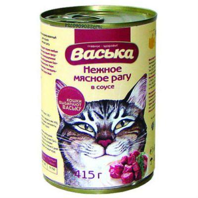 Консервы Васька для кошек мясное рагу 415г