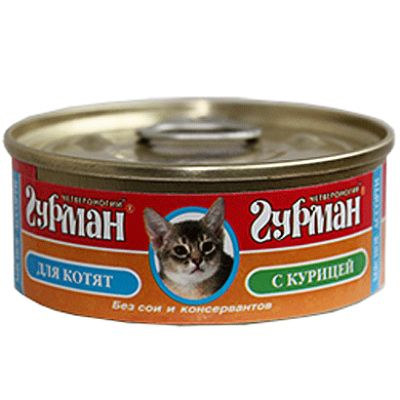 Консервы Четвероногий Гурман для котят с курицей 100г