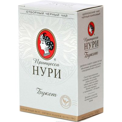 Чай Принцесса Нури Букет 100г.чай лист.черн. 0319-64