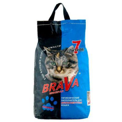 Наполнитель Brava для длинношерстных кошек 7л