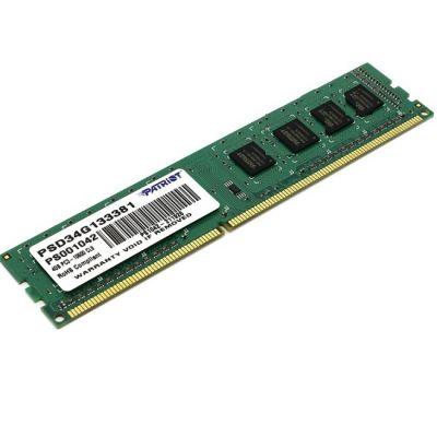 ����������� ������ Patriot DDR3 1333 (PC 10600) DIMM 240 pin, 1x4 ��, 1.5 �, CL 9 RTL ��� ��������� PSD34G133381