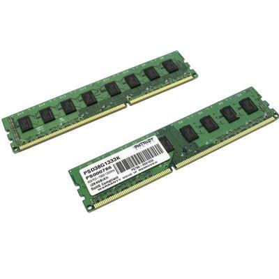 Оперативная память Patriot DDR3 1333 (PC 10600) DIMM 240 pin, 2x4 Гб, 1.5 В, CL 9 RTL PSD38G1333K
