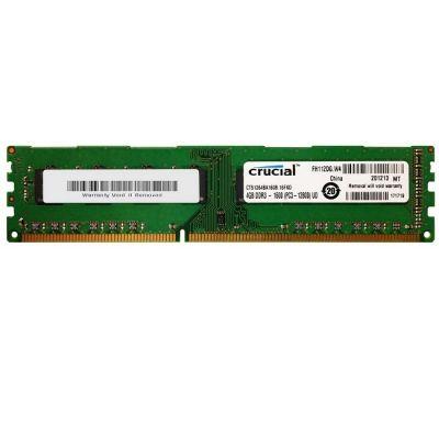Оперативная память Crucial DDR3 1600 (PC 12800) DIMM 240 pin, 1x4 Гб, 1.5 В, CL 11 (CT51264BA160B)