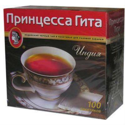 Чай Принцесса Гита Индия (2гх100п) чай пак.б/я черн. 0251-24