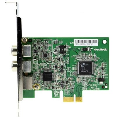 AVerMedia Тюнер-ТВ/FM внутренний PCI-E/S-Video/RCA PDU HomeFreeTV APP Available! AVerTV Nova T2+C