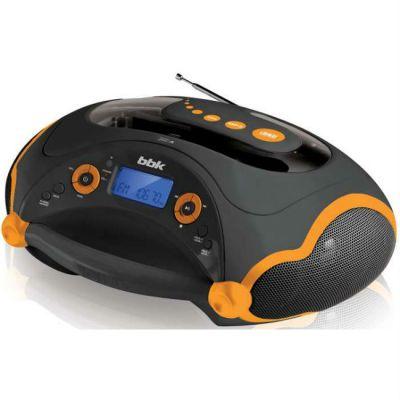Магнитола BBK BX316U черный/оранжевый
