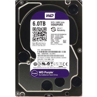 Жесткий диск Western Digital SATA-III 6000Gb Purple , IntelliPower, 64MB buffer WD60PURX