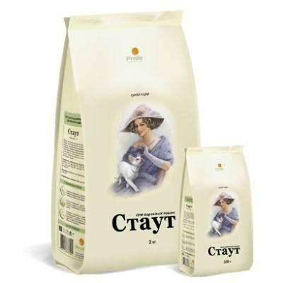 Сухой корм Стаут гипоаллергенный для взрослых кошек с мясом ягненка и рисом упак. 0,3кг