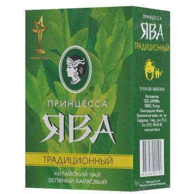 Чай Принцесса Ява Традиционный 200г.чай лист.зел. 0187-20