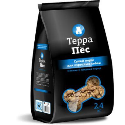 Сухой корм Терра Пес для взрослых собак мелких и средних пород упак 2.4 кг