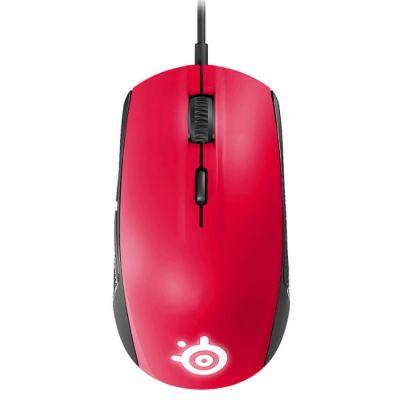 Мышь проводная SteelSeries Rival 100 Forged красный
