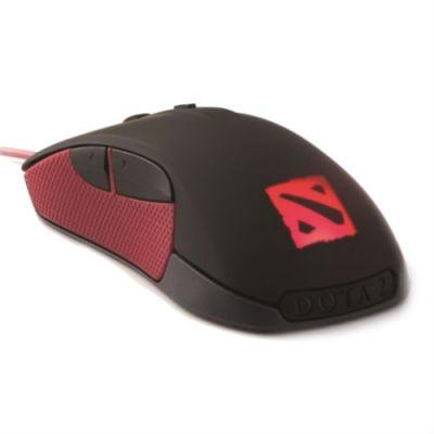 Мышь проводная SteelSeries Rival Dota 2 черный/красный