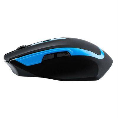 Мышь беспроводная Oklick 630LW черный/голубой