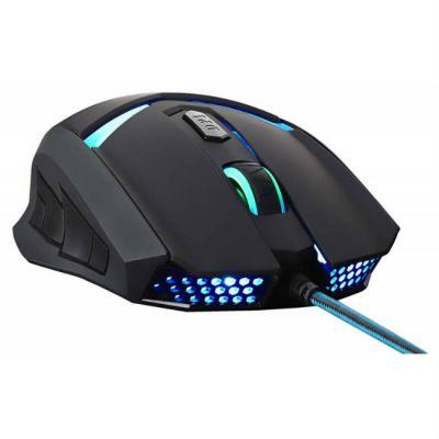 Мышь проводная Oklick 745G LEGACY черный/голубой