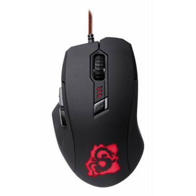 Мышь проводная Oklick 725G DRAGON черный/красный