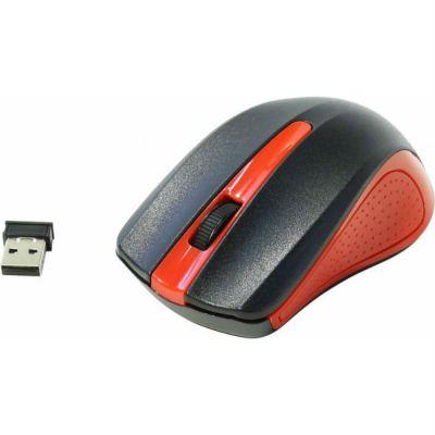 Мышь беспроводная Oklick 485MW черный/красный