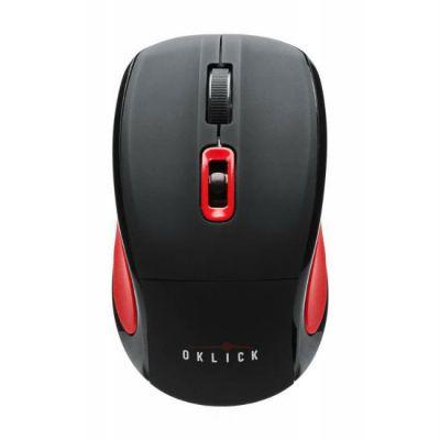 Мышь беспроводная Oklick 425MW черный/красный