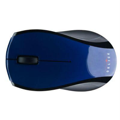 Мышь беспроводная Oklick 345MW синий/черный