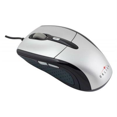 Мышь проводная Oklick 610L серебристый/черный