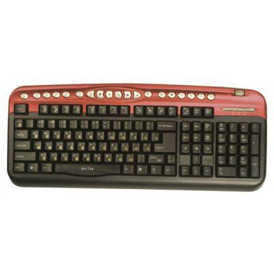 Клавиатура Oklick 330M черный/красный