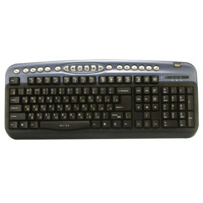 Клавиатура Oklick 330M черный/синий