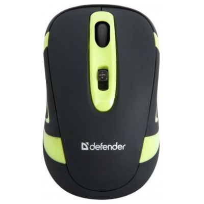 Мышь беспроводная Defender Magnifico Nano Black-Green MM-505