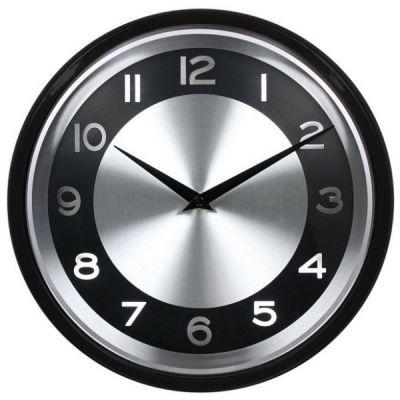 Настенные часы Бюрократ аналоговые WALLC-R24P/BLACK