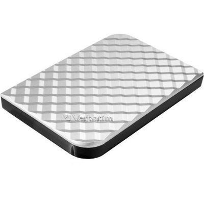 """Внешний жесткий диск Verbatim 1 Tb Go Style, 2.5"""", USB 3.0, Серебро 53197"""