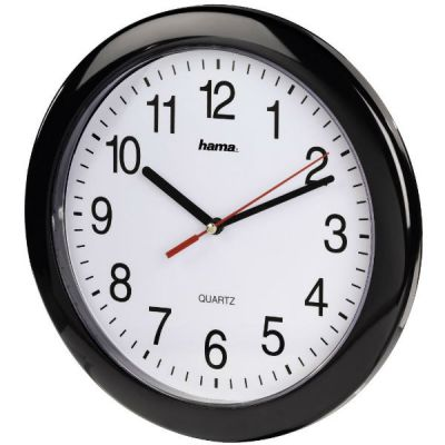 Настенные часы Hama аналоговые PP-250 черный H-113920