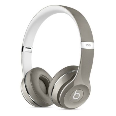 Наушники с микрофоном Apple Beats Solo2 On-Ear Headphones (Luxe Edition) - Silver MLA42ZE/A