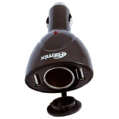 Ritmix Разветвитель розетки прикуривателя с USB разъемом RM-021