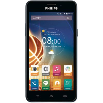 Смартфон Philips Xenium V526 8Gb LTE Синий 867000131355