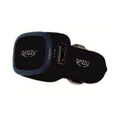 Зарядное устройство Ginzzu Разветвитель розетки прикуривателя Ginzzu GA-4415UB черный