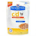 Паучи Hills c/d для кошек профилактика МКБ (с лососем) 85г (3408LN)