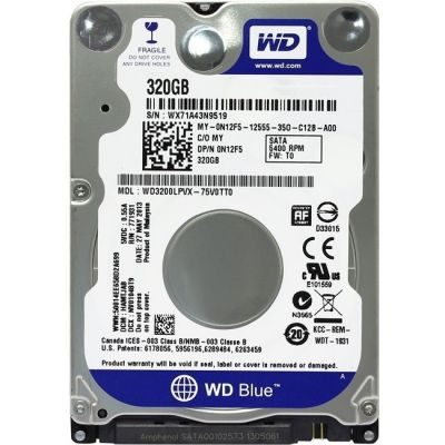 "������� ���� Western Digital SATA-III 320Gb Blue (5400rpm) 16Mb 2.5"" WD3200LPCX"