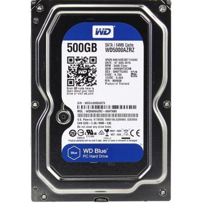 "Жесткий диск Western Digital SATA-III 500Gb Blue (5400rpm) 64Mb 3.5"" WD5000AZRZ"