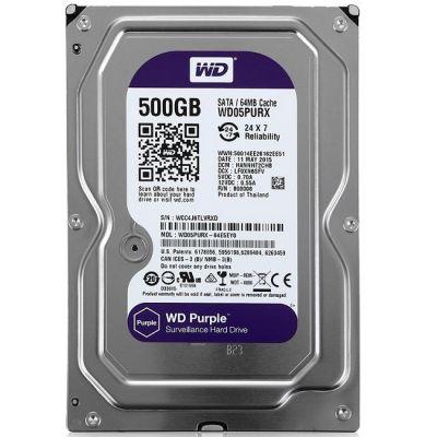 "Жесткий диск Western Digital SATA-III 500Gb Purple 64Mb 3.5"" WD05PURX"