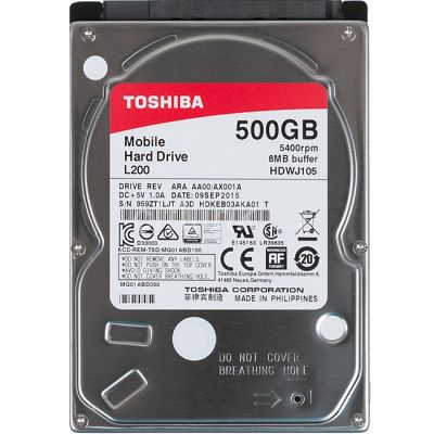 """������� ���� Toshiba SATA-III 500Gb L200 (5400rpm) 8Mb 2.5"""" HDWJ105UZSVA"""