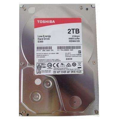 "Жесткий диск Toshiba SATA-III 2Tb E300 Low-Energy (5700rpm) 64Mb 3.5"" HDWA120UZSVA"