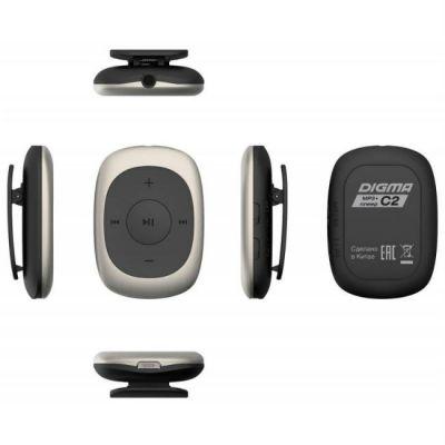 Аудиоплеер Digma Flash C2 8Gb бежевый/черный/FM/clip