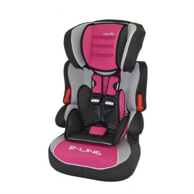 Детское автокресло Nania Beline SP LX (agora framboise) от 9 до 36 кг (1/2/3) черный/розовый 583124