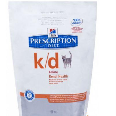 Сухой корм Hills k/d для кошек лечение почек и МКБ 400г (5484GA)