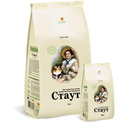 Сухой корм Стаут для взрослых кошек профилактика ожирения упак. 2кг