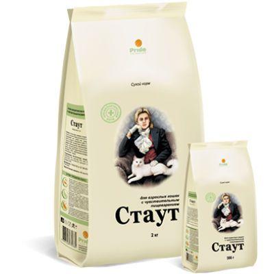Сухой корм Стаут для взрослых кошек с чувствительным пищеварением упак. 2кг
