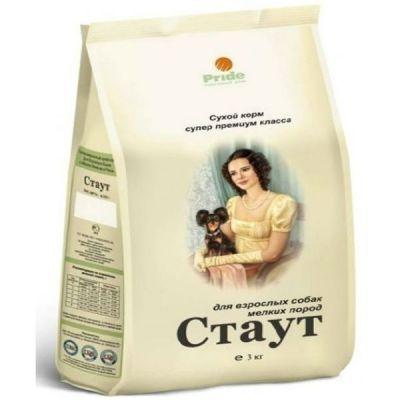 Сухой корм Стаут для взрослых собак мелких пород упак. 3кг