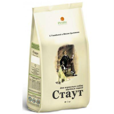 Сухой корм Стаут для взрослых собак крупных пород (цыпленок+говядина) упак. 3кг